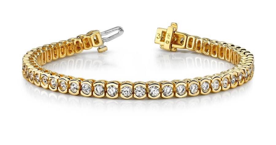 B209 Half Bezel Diamond Bracelet