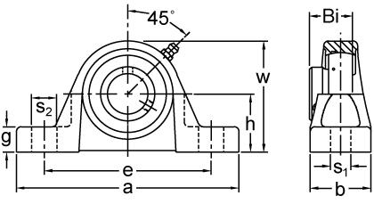 Set Screw Locking Pillow Block Unit, BP200 Series On AMI