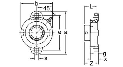 Item # KHFX205-16, Eccentric Collar Locking Two-Bolt