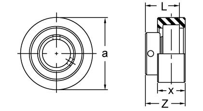 Item # KHRRCSM205-16, Eccentric Collar Locking Cartridge