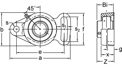 Item # UCFA210-32, Set Screw Locking Adjustable Two-Bolt