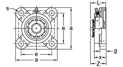 Item # UKF209+H2309, Adapter Sleeve Locking Four-Bolt