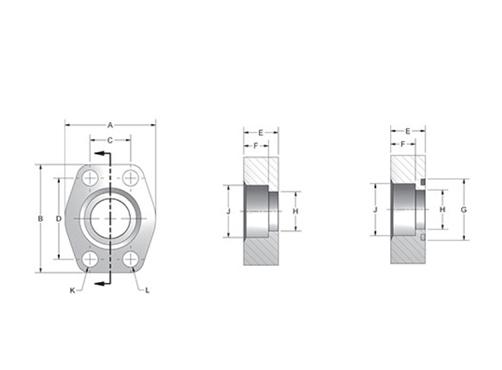 Item # W61-32-32, CD61/CD62 Flat Socket Weld Pipe 4-Bolt