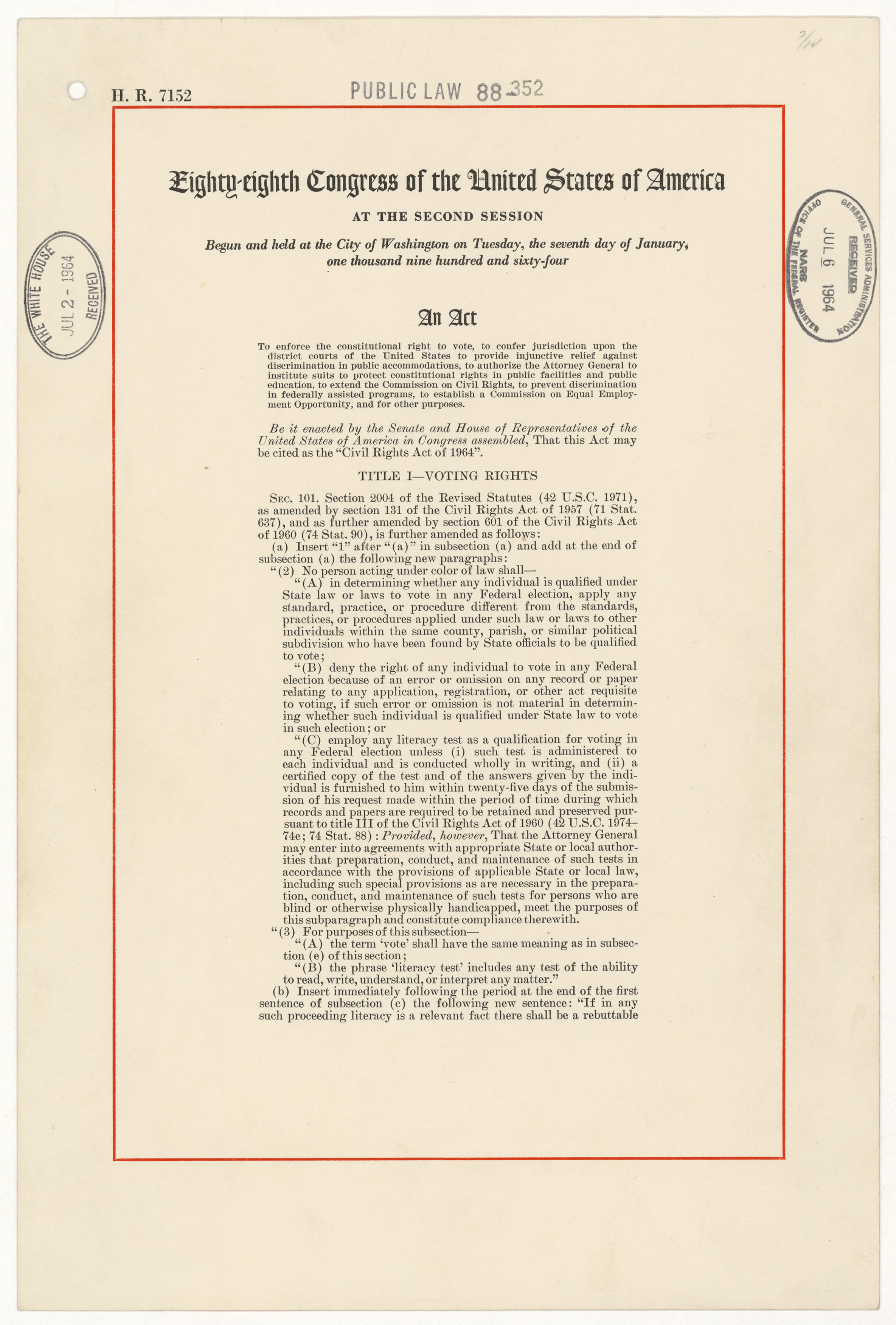The Civil Rights Act Of And The Equal Employment Opportunity Commission