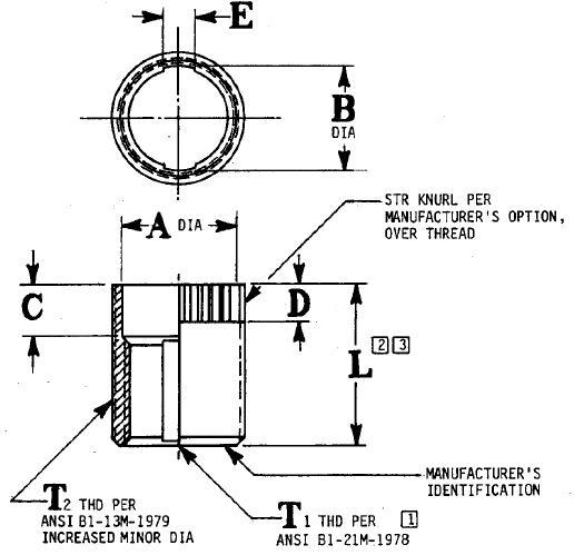 Item # SRM0710B, Metric, Non-Locking, 235°C Dry Flim Lube