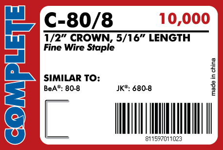 20 Gauge Staples 12 Crown