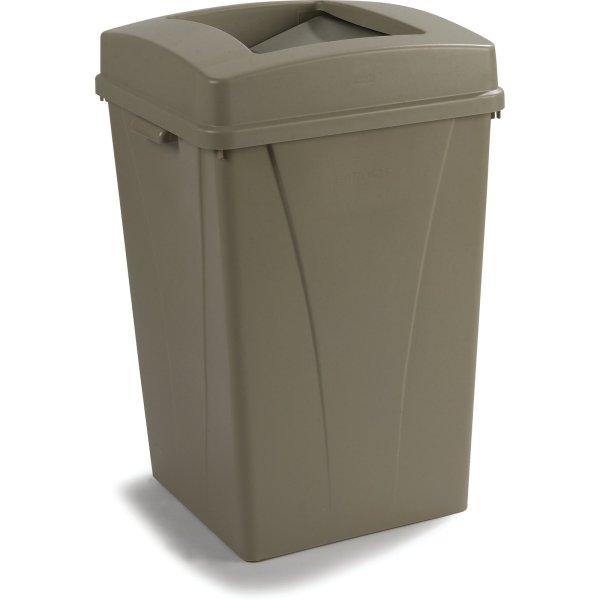 34395006 - Centurian Square Waste Container Trash 50 Gallon Beige Carlisle Foodservice