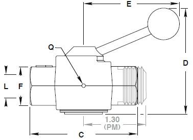 Item # 9259B-2PM, 9200 Series Manual Shutoff Valve On