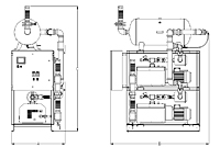 Item # LCPDT0602, Laboratory Dry Claw Duplex Tank Mounted