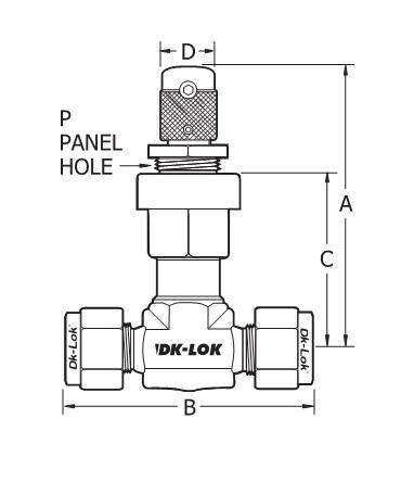 Item # VM1D-D2T-S, VM1D Series Metering Valves On DK-LOK USA