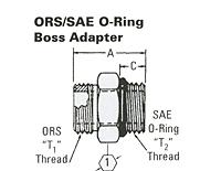 Item # FF1852T (REF. SAE 520120), ORS/ SAE O-RING BOSS