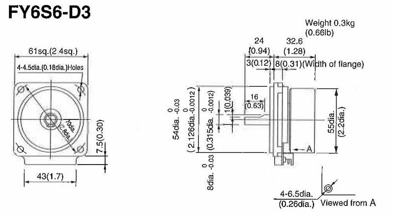 Item # FY6S6-D3, Palm Mini Plus Type Motor On Japanese