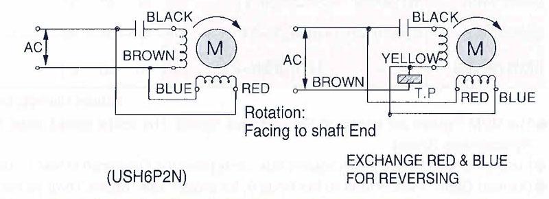Item # USH6P2N, USH Synchronous Motor (2~15 W) with Speed