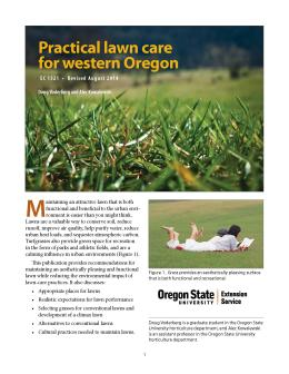 Practical Lawn Care For Western Oregon Osu Extension Catalog Oregon State University