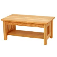 Hollydale Chestnut Mission Style Coffee Table 15782613 ...