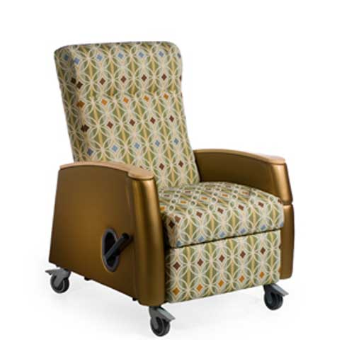 Tranquility Mobile Medical Recliner with Removable Right Arm  MississippiMade Catalog