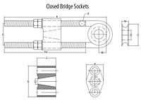 Closed Bridge Spelter Sockets ASTM A148 On Lexco Cable
