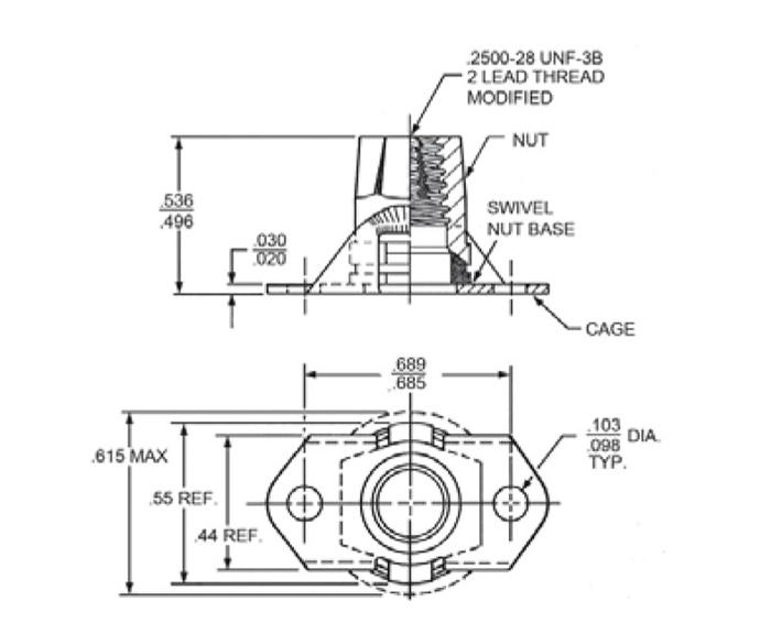 Item # CA21024, CA21024 3/8 Inch (in) Flat Beam Nut
