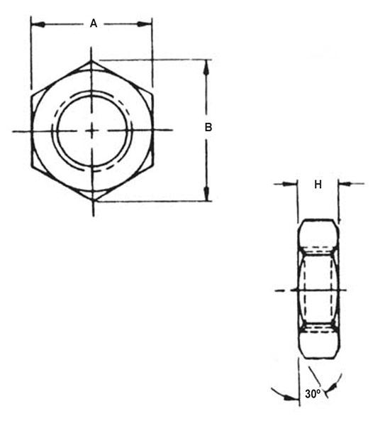 Item # AN316-9, 9/16-18 Thread Size AN316 Hexagon Jam
