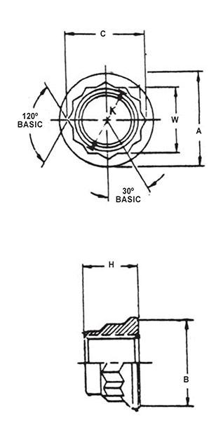 Item # NAS1805-6, 0.3750-24 NAS1805 Self-Locking Machine