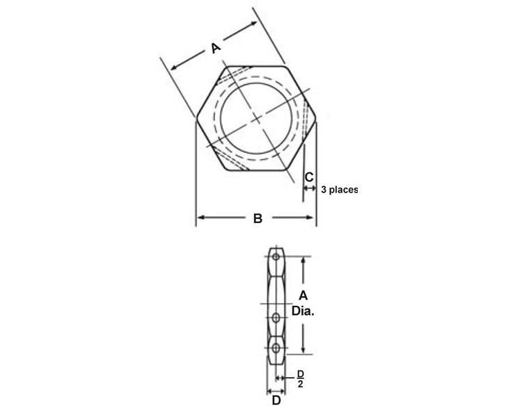 Item # NAS1423-10, 0.6250-18 Thread T NAS1423 Drilled Jam