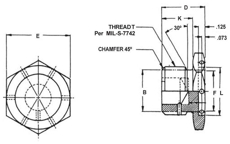 Item # AN814-12L, 3/4 Inch Tube Outer Diameter AN814