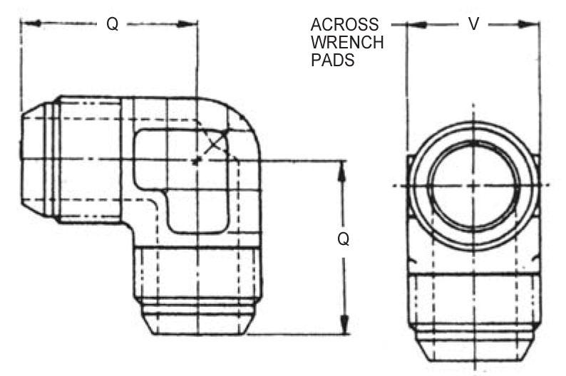 Item # AN821-12J, 3/4 Inch Tube Outer Diameter AN821 90