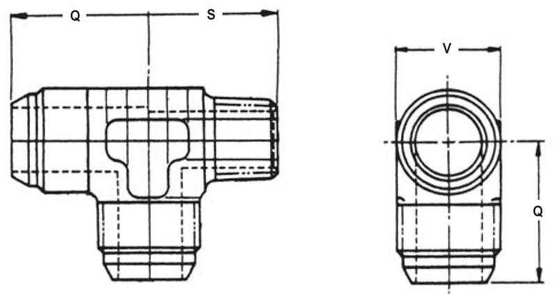 Item # MS20826-3J, 3/16 Inch Tube Outer Diameter MS20826