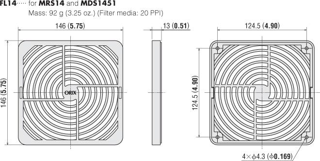 Item # FL14, Filter On Oriental Motor USA