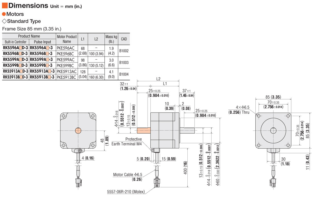 Item # RKS5913ACD-3, Microstep Stepper Motor & Driver with