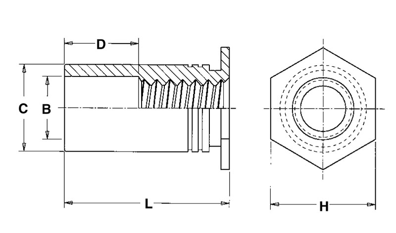 Pem SO-632-32ZI, Thru-hole Threaded Standoffsl / Zinc Lot