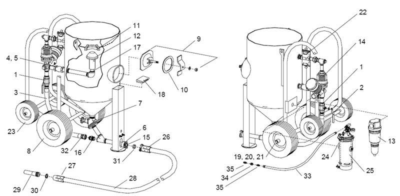 Stock No. 22845, Metering valve, man. Quantum w/wye On