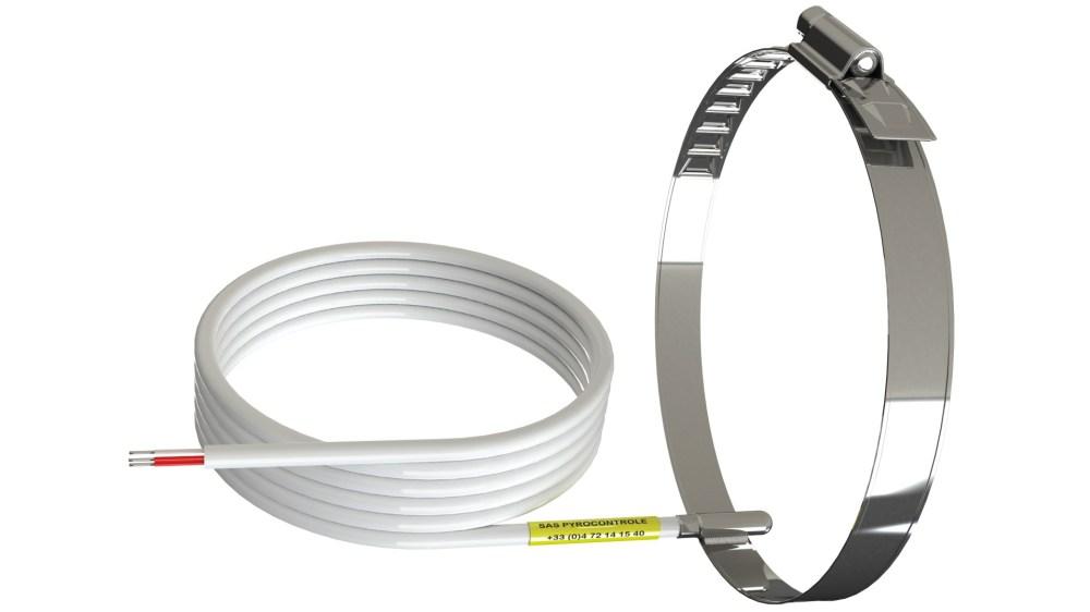 medium resolution of rtd sensor mounted on tube with serflex band