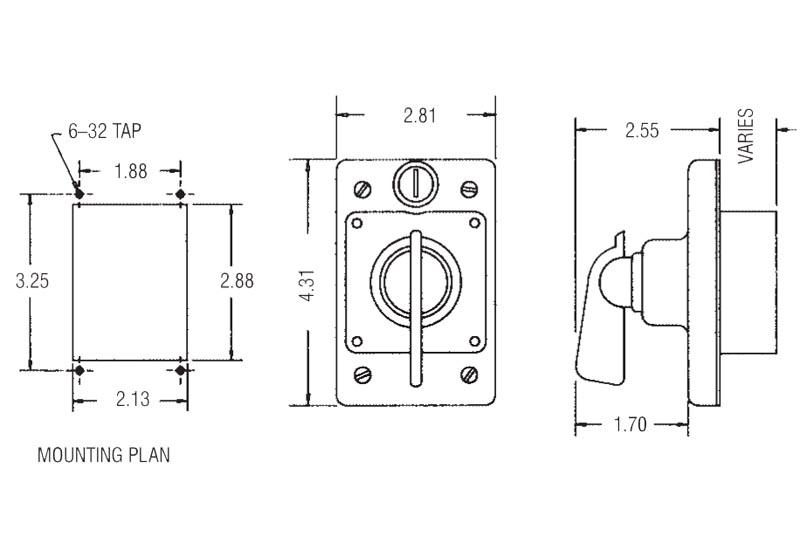 Item # 04925-xxx, Heavy Duty Selector Switches On Rees, Inc.