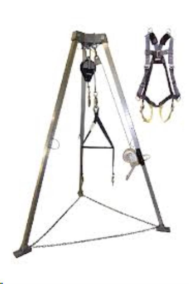 Hoist manlift w/tripod harness rentals Indianapolis
