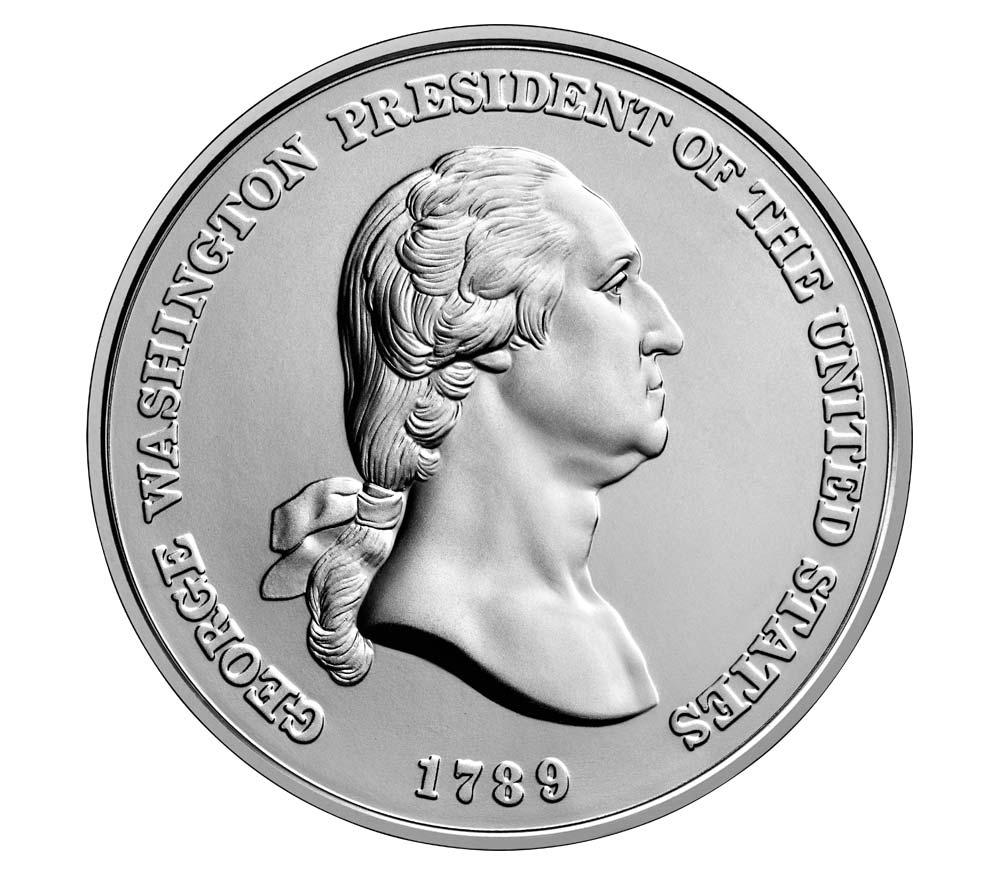 george washington presidential silver
