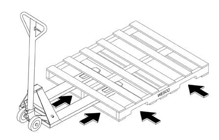 Part No. 273400, 4-Way Pallet Truck On Wesco Industrial