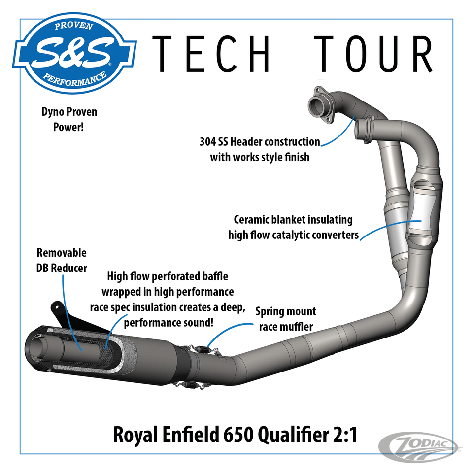 s s qualifier 2 into 1 exhaust system