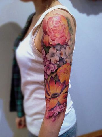 Diseños De Tatuajes Brazo Entero Mujer Full Color