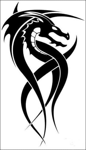 Imagenes De Tatuajes De Dragones Tribales Pequeños
