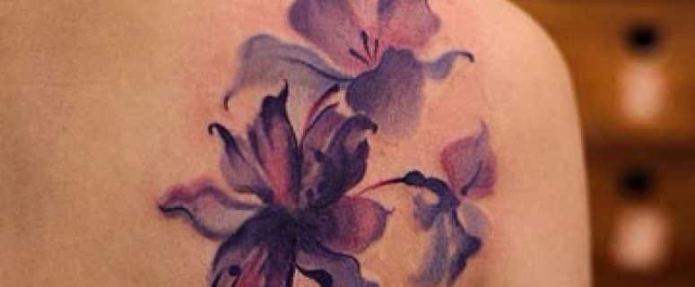 Diseños De Tatuajes De Flores En Acuarela O Watercolor
