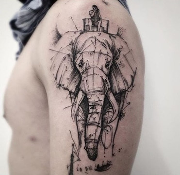 La Nueva Escuela Y Tatuajes De Elefantes Para Hombres