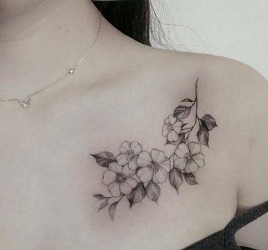 Diferentes Diseños De Tatuajes De Rosas En El Pecho