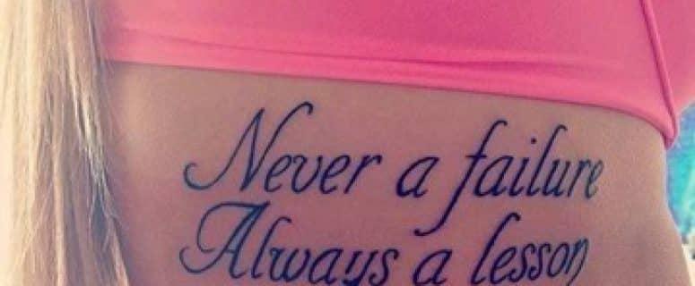 Originales Y Emocionales Tatuajes Con Frases De La Vida