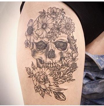 Diseños Para Tatuajes De Calaveras En La Pierna