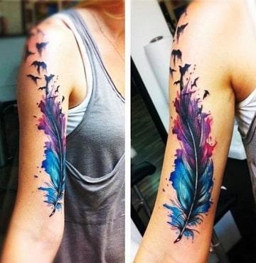 Impresionantes Diseños De Tatuajes A Color En El Brazo