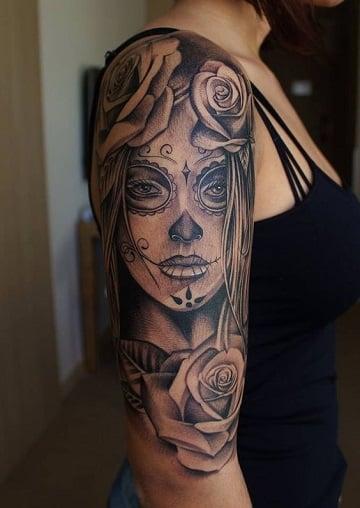 Tattoo Realismo Rostro De Mujer
