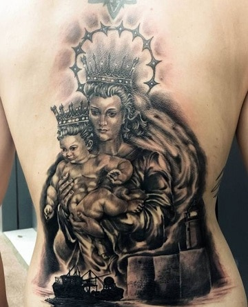 Diseños De Los Tatuajes De La Virgen Del Carmen
