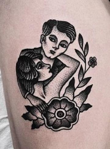 Diseños Tradicionales Y Tatuajes En Blanco Y Gris