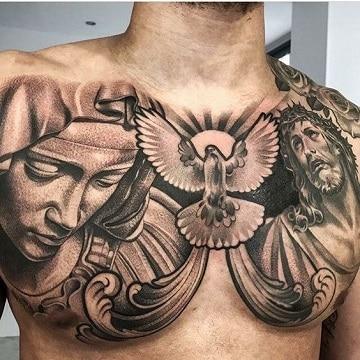 Algunos Diseños De Tatuajes Religiosos Para Hombres